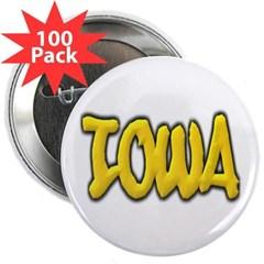 "Iowa Graffiti 2.25"" Button (100 pack)"