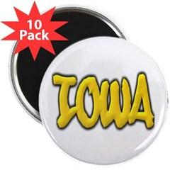 "Iowa Graffiti 2.25"" Magnet (10 pack)"
