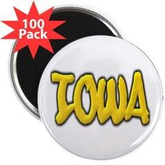 "Iowa Graffiti 2.25"" Magnet (100 pack)"