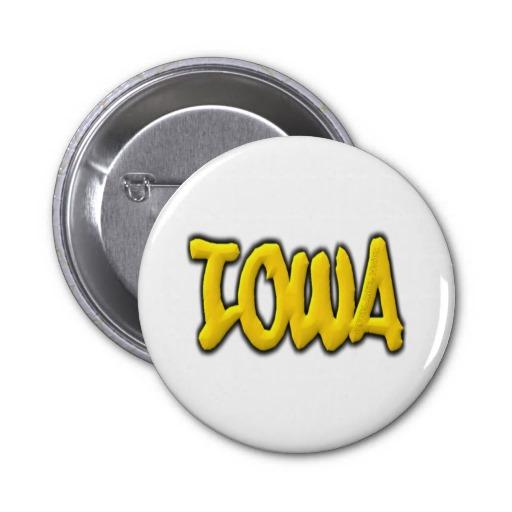 Iowa Graffiti 2 Inch Round Button