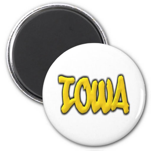Iowa Graffiti 2 Inch Round Magnet