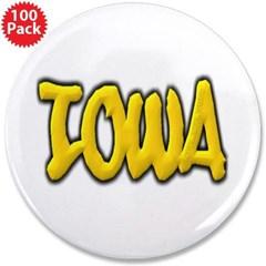 "Iowa Graffiti 3.5"" Button (100 pack)"