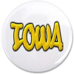 """Iowa Graffiti 3.5"""" Button"""