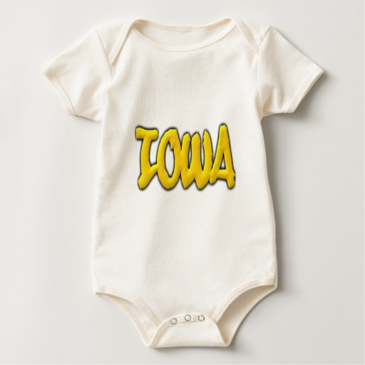 Iowa Graffiti Baby American Apparel Organic Bodysuit