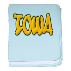 Iowa Graffiti Baby Blanket