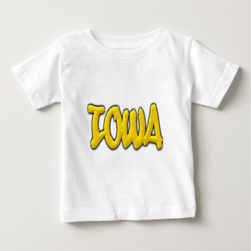 Iowa Graffiti Baby Fine Jersey T-Shirt