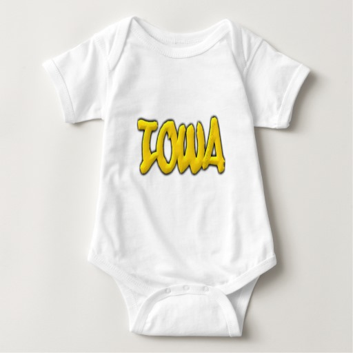Iowa Graffiti Baby Jersey Bodysuit