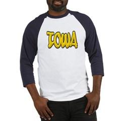 Iowa Graffiti Baseball Jersey T-Shirt