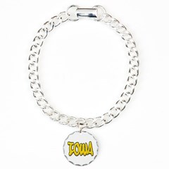Iowa Graffiti Bracelet with Round Charm