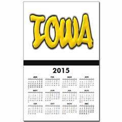 Iowa Graffiti Calendar Print