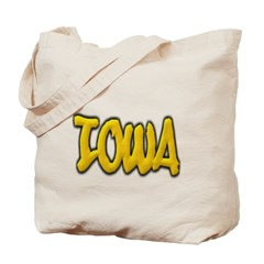 Iowa Graffiti Canvas Tote Bag