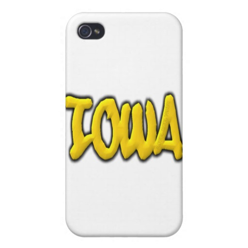 Iowa Graffiti Case Savvy iPhone 4 Matte Finish Case