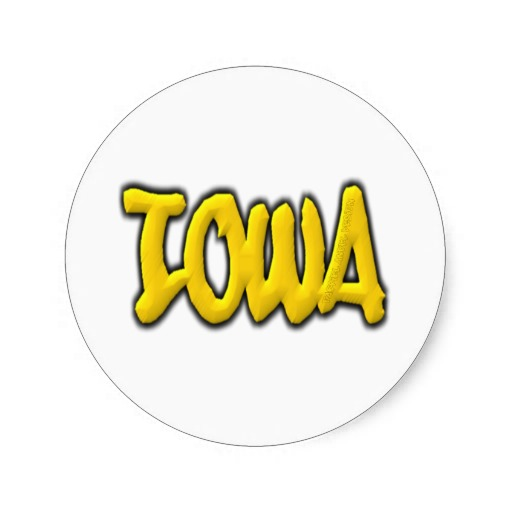 Iowa Graffiti Classic Round Sticker