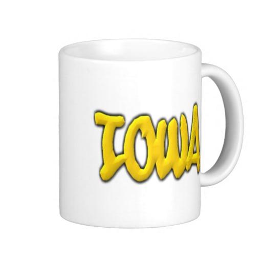Iowa Graffiti Classic White Mug