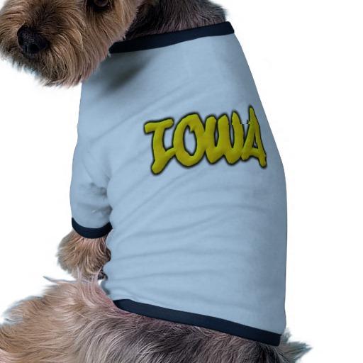 Iowa Graffiti Doggie Ringer T-Shirt