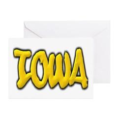 Iowa Graffiti Greeting Cards (Pk of 10)