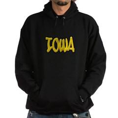 Iowa Graffiti Hooded Dark Sweatshirt