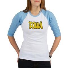 Iowa Graffiti Junior Raglan T-shirt