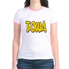 Iowa Graffiti Junior Ringer T-Shirt