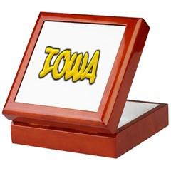 Iowa Graffiti Keepsake Box
