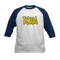 Iowa Graffiti Kids Baseball Jersey T-Shirt