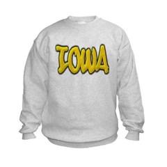Iowa Graffiti Kids Crewneck Sweatshirt by Hanes