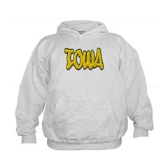 Iowa Graffiti Kids Sweatshirt by Hanes