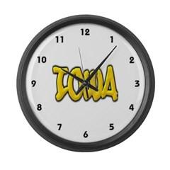 Iowa Graffiti Large Wall Clock