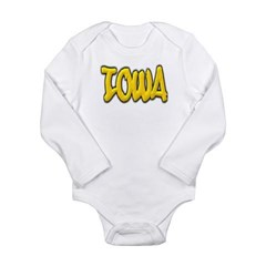 Iowa Graffiti Long Sleeve Infant Bodysuit
