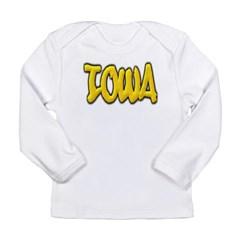Iowa Graffiti Long Sleeve Infant T-Shirt