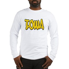 Iowa Graffiti Long Sleeve T-Shirt