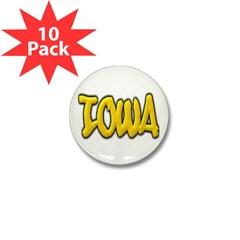 Iowa Graffiti Mini Button (10 pack)
