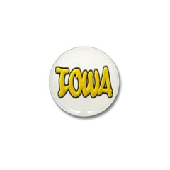 Iowa Graffiti Mini Button