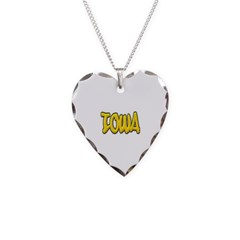 Iowa Graffiti Necklace with Heart Pendant