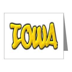 Iowa Graffiti Note Cards (Pk of 20)