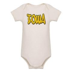 Iowa Graffiti Organic Baby Bodysuit