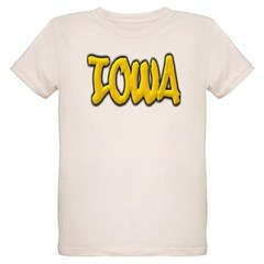 Iowa Graffiti Organic Kids T-Shirt