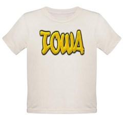 Iowa Graffiti Organic Toddler T-Shirt