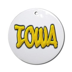 Iowa Graffiti Ornament (Round)
