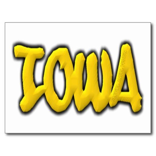 Iowa Graffiti Postcard