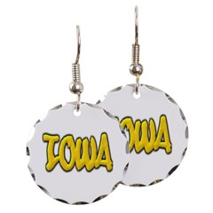 Iowa Graffiti Round Earrings