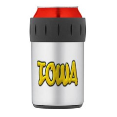 Iowa Graffiti Thermos Can Cooler