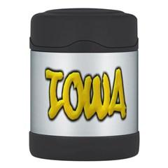 Iowa Graffiti Thermos Food Jar