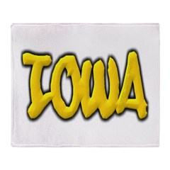 Iowa Graffiti Throw Blanket