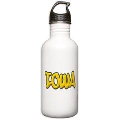 Iowa Graffiti Water Bottle