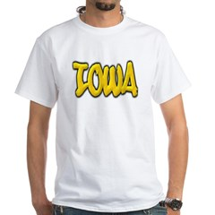 Iowa Graffiti White T-Shirt