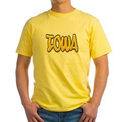 Iowa Graffiti Yellow T-Shirt