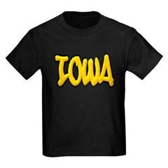 Iowa Graffiti Youth Dark T-Shirt by Hanes