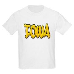 Iowa Graffiti Youth T-Shirt by Hanes