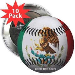 """Mexican Baseball 2.25"""" Button (10 pack)"""